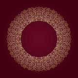 Decorative ornate round frame in Victorian style. Ornamental round border for wedding invitations and greeting cards.Vector illustration Royalty Free Stock Images