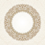 Decorative ornate round frame in Victorian style. Ornamental round border for wedding invitations and greeting cards.Vector illustration Royalty Free Stock Photos