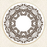 Decorative ornate round frame in Victorian style. Ornamental round border for wedding invitations and greeting cards.Vector illustration Royalty Free Stock Photography