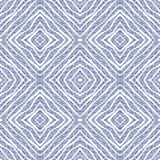 Decorative ornate seamless pattern in blue tones. Stock Images