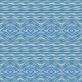 Decorative ornate seamless pattern in blue tones. Royalty Free Stock Image