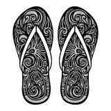 Decorative Ornate Women's Slippers Royalty Free Stock Image