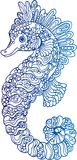 Decorative outline seahorse illustration Stock Image