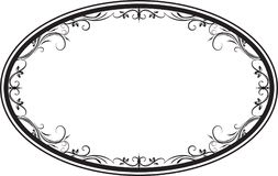 Decorative  oval floral frame with leaves for your design. Royalty Free Stock Photography