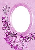 Decorative oval frame Royalty Free Stock Image