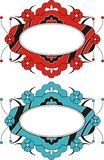 Decorative Oval Frames Royalty Free Stock Image
