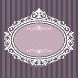 Decorative oval vintage frame Stock Image