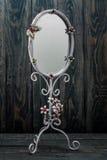 Decorative Oval White Mirror Royalty Free Stock Photos
