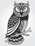 Decorative Owl. Abstract Decorative Owl Vector Illustration Stock Photography