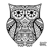 Decorative owl. Decorative artistic hand made decorative owl Royalty Free Stock Images