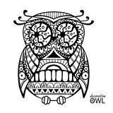 Decorative owl Stock Images
