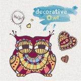 Decorative owl Royalty Free Stock Photo