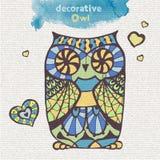 Decorative owl stock illustration