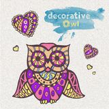 Decorative owl Stock Photography