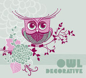 Decorative owl Royalty Free Stock Images