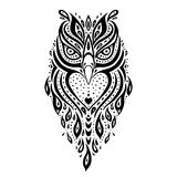 Decorative Owl. Ethnic pattern. Stock Photos