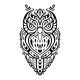 Decorative Owl. Ethnic pattern. Stock Images