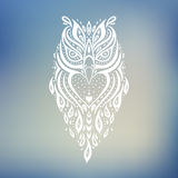Decorative Owl. Ethnic pattern. Royalty Free Stock Photography