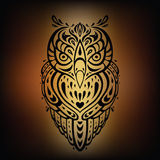 Decorative Owl. Ethnic pattern. Stock Image