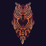 Decorative Owl. Ethnic pattern. Stock Photography