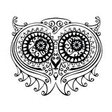 Decorative owl illustration Stock Images