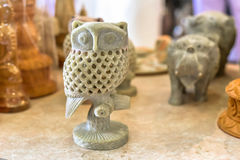 Decorative Owl Marble Carving Sculpture Royalty Free Stock Photos