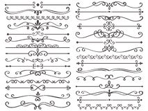 Free Decorative Page Divider. Vintage Decor Lines, Luxury Wedding Frame Line And Ornate Swirl Dividers Isolated Vector Set Stock Images - 137083944