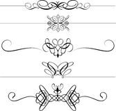 Decorative page dividers Stock Photos