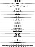 Decorative page dividers. Collection of decorative page dividers Stock Photos
