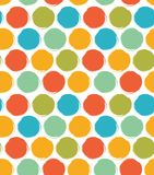 Decorative paint pattern with drawn circles. Seamless bright background. Royalty Free Stock Images
