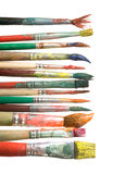 Decorative paintbrushes Stock Photography