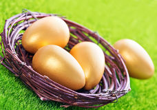 Decorative painted Easter eggs Royalty Free Stock Photo