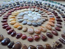 Decorative and painted stones stock photography