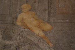 Decorative painting. In the Castel Sant`Angelo in Rome Royalty Free Stock Images