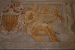 Decorative painting. In the Castel Sant`Angelo in Rome Royalty Free Stock Photography