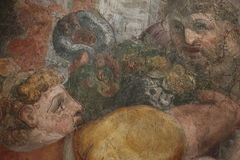 Decorative painting. In the Castel Sant`Angelo in Rome Royalty Free Stock Image