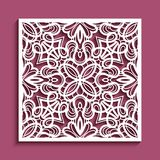 Cutout paper panel with lace pattern Royalty Free Stock Photo