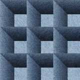 Decorative paneling pattern - seamless background -  Blue denim Royalty Free Stock Image