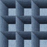 Decorative paneling pattern - seamless background -  Blue denim. Decorative paneling pattern - seamless background -  Blue textiles Royalty Free Stock Image
