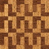 Decorative paneling pattern - walnut wood texture. Decorative paneling pattern - seamless background - Fine natural structure - cassette floor - Continuous Stock Photo
