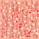 Decorative paper decor with berries Stock Photography