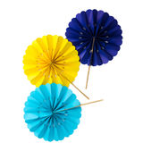 Decorative paper fans Royalty Free Stock Photos