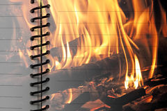 Decorative paper with fire Stock Images