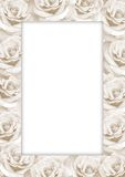 Decorative paper frame with roses Stock Photography