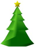 Decorative paper xmas tree Royalty Free Stock Photos