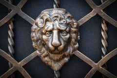 Decorative parts of metal gates, elements of hand forging Royalty Free Stock Photo