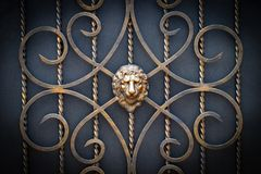 Decorative parts of metal gates, elements of hand forging.  Royalty Free Stock Image