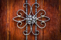 Decorative parts of metal gates, elements of hand forging.  Royalty Free Stock Images