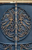 Decorative parts of metal gates, elements of hand forging.  Royalty Free Stock Photos