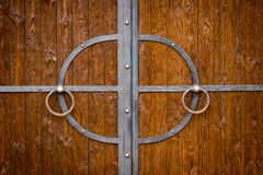 Decorative parts of metal gates, elements of hand forging.  Stock Photography
